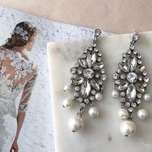 Chandelier Pearl Statement Earrings